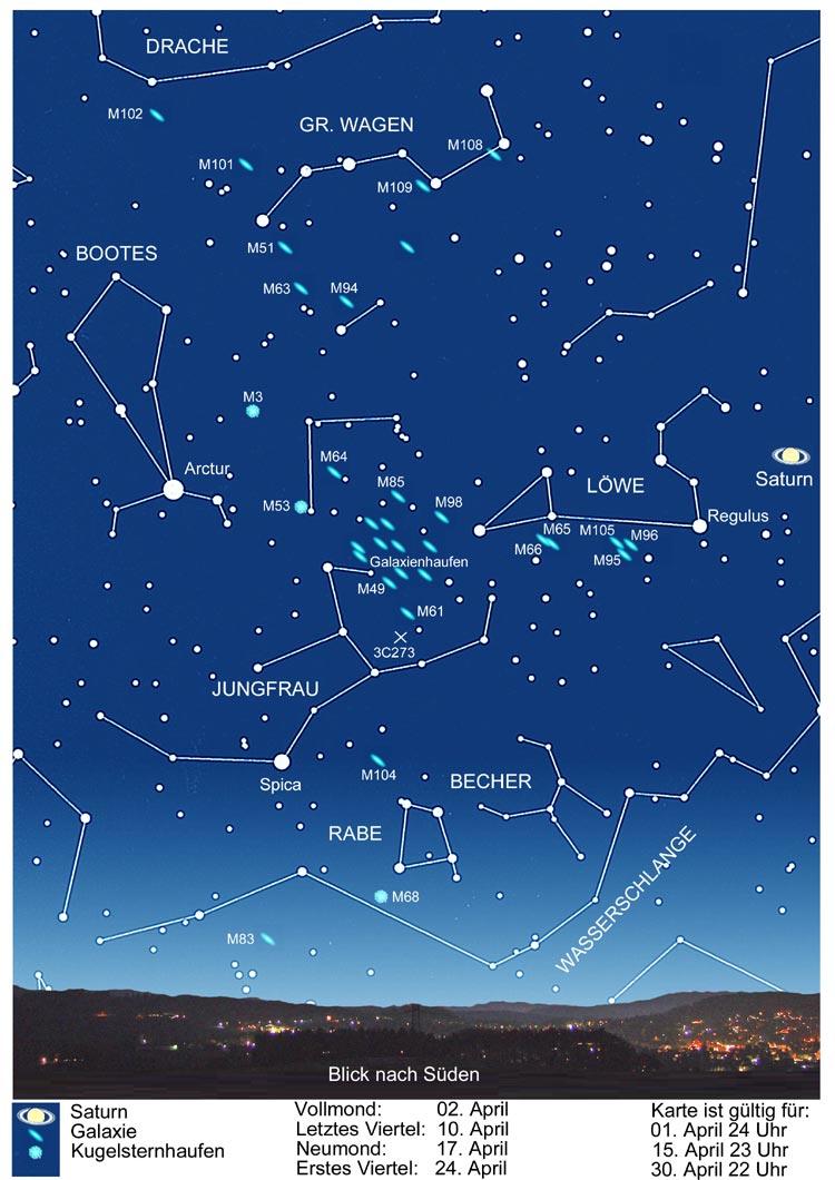 STERNENHIMMEL IM APRIL 20   die kommentierte Himmelsschau
