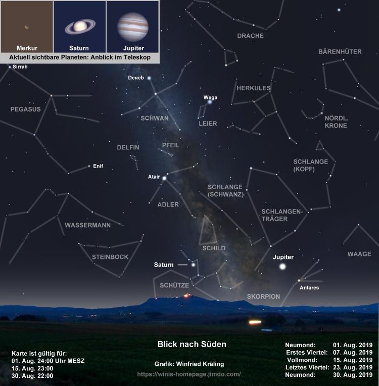 Der Aktuelle Sternenhimmel Die Kommentierte Himmelsschau